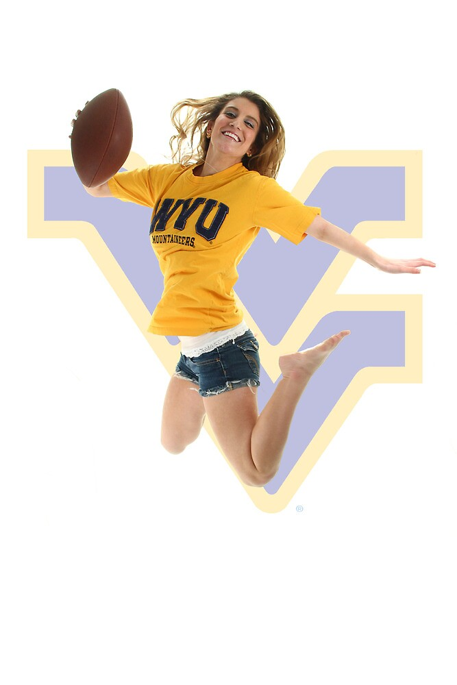 Nicole Jumping for WVU by HofferPhoto
