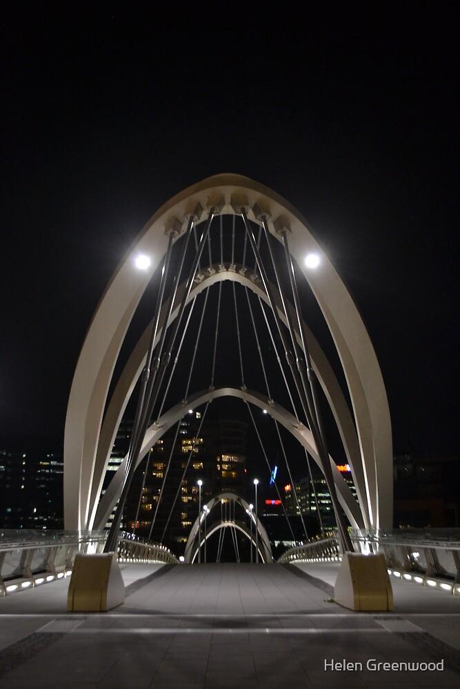 South Wharf Foot Bridge, Melbourne, Victoria by Helen Greenwood
