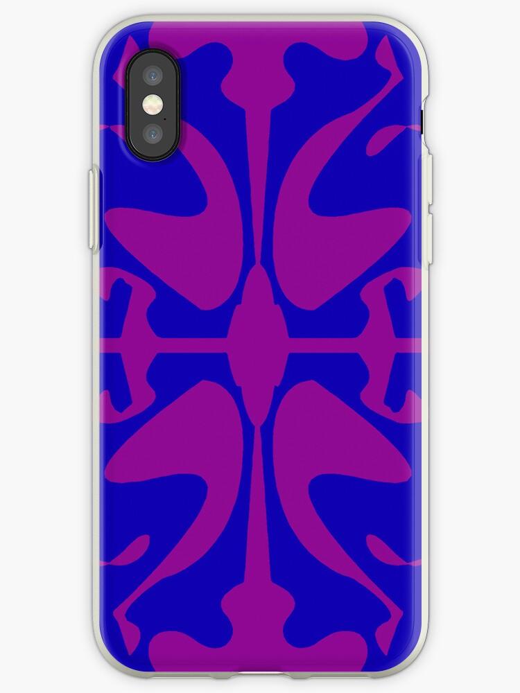 Dark Blue & Purple Design for iPhone & iPod by GJPart