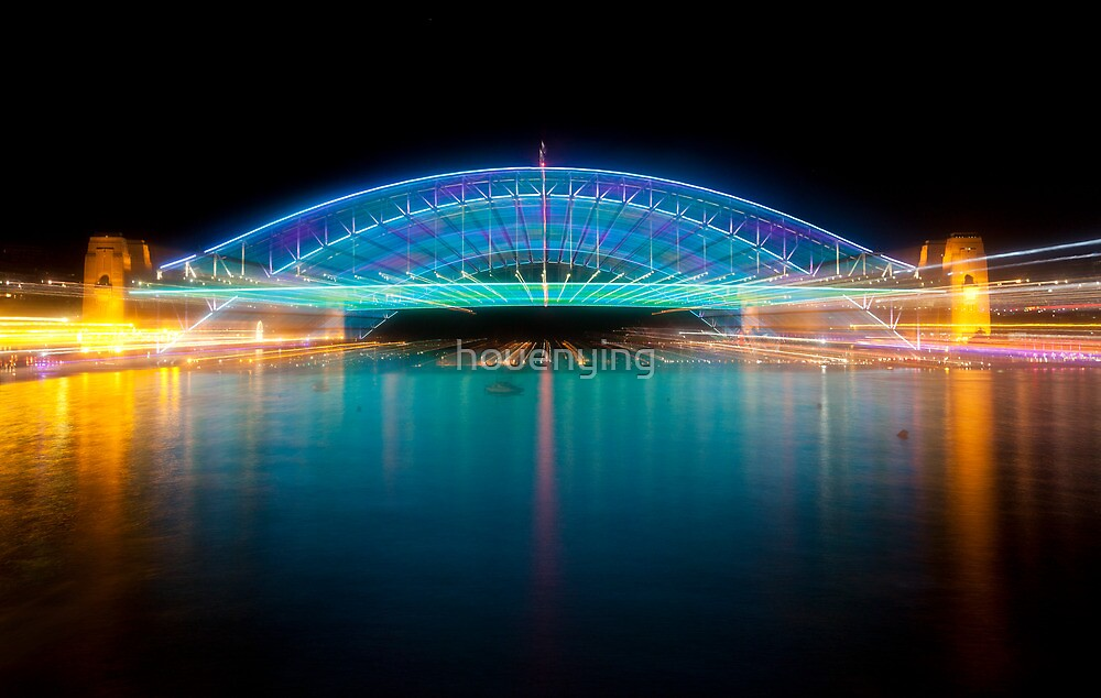 the bridge in blue by houenying