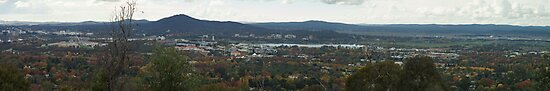 Canberra from Red Hill Lookout by Graeme Rouillon