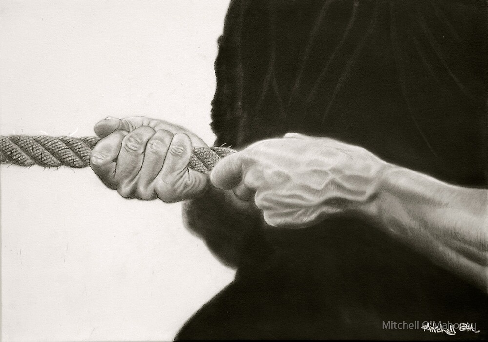 tug o war by Mitchell O'Mahoney