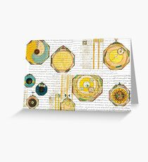 Time and place two Greeting Card