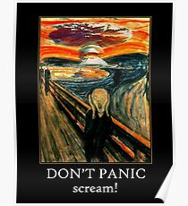 Don't Panic - Scream! Poster