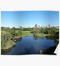 NYC View in Central Park Poster