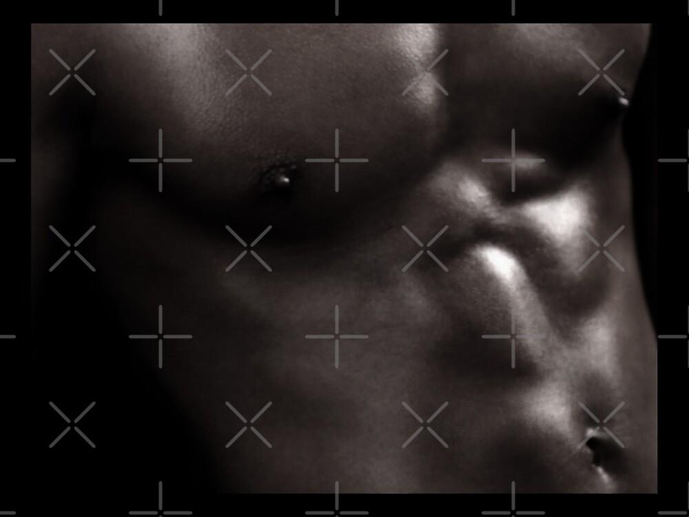 Bodyscapes - B&W Torso_KJ01 (w/blk framing) by BrianJoseph