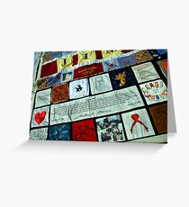 AIDS Quilt - 1 Greeting Card