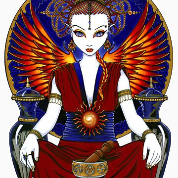 Solara Fire Goddess Angel by MykaJFairies
