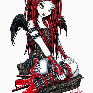 Crimson Cybergoth Angel by MykaJFairies