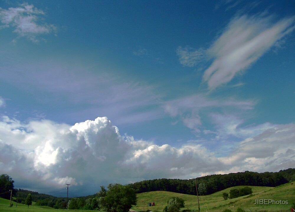 Rainbow Tinted Skyscape by JIBEPhotos