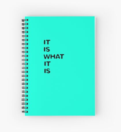 it is what it is (turquoise) Spiral Notebook