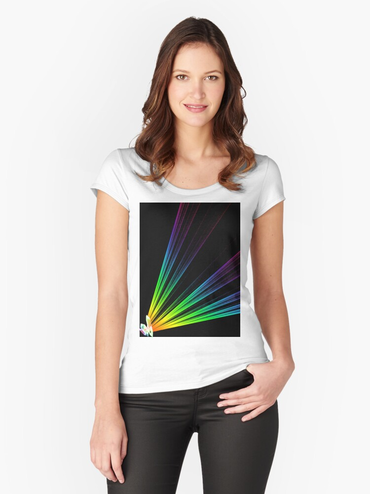 Rainbow Prism Women's Fitted Scoop T-Shirt Front