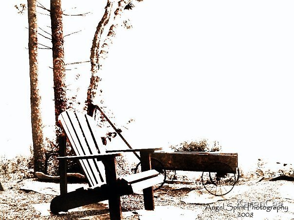 Chair by the Lake by KarenCee