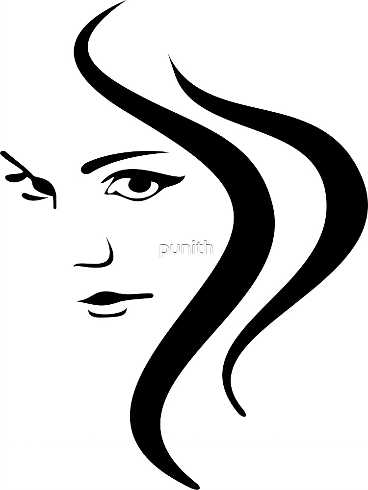 Girl Face and Hair by punith