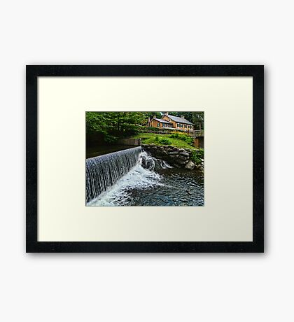 Gomez Mill House from the Mill Framed Print