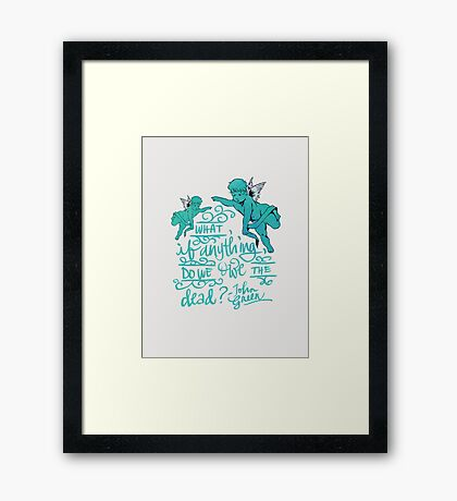 Thoughts from Places: Vienna Framed Print