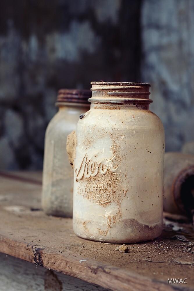 Old Dusty Mason Jars by MWAC