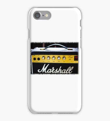 marshall 80's Lead 12 amp... iPhone Case/Skin