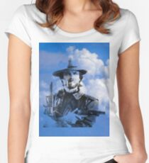 Clint in the clouds Women's Fitted Scoop T-Shirt