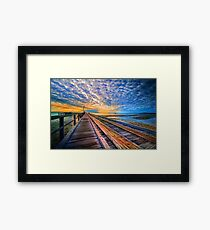 Rainbow Pier... Framed Print