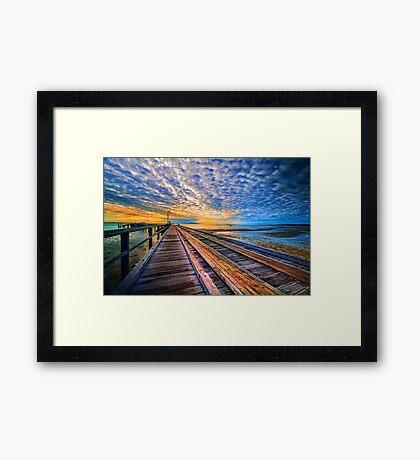 Rainbow Pier... Framed Print