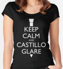 Castillo Glare (Miami Vice) - Dark Women's Fitted Scoop T-Shirt