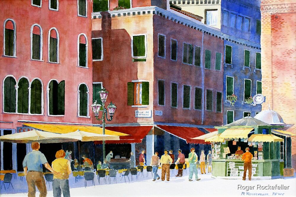 A Venetian Piazza by Roger Rockefeller