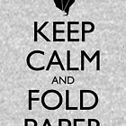 Keep Calm & Fold Paper (Chicken) by olmosperfect