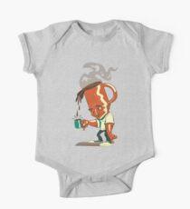 Coffee Head Baby Body Kurzarm