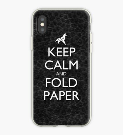 Keep Calm and Fold Paper - Unicorn / Snakeskin iPhone Case