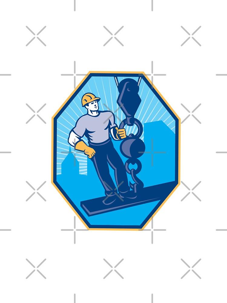 Construction Worker I-Beam Girder Ball Hook by patrimonio