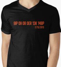 Freak No Hitter (Orange) Men's V-Neck T-Shirt