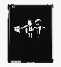 Pulp Reference - Banksy Stencil Pulp Fiction Parody iPad Case/Skin