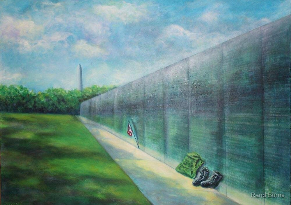 The Vietnam Wall and The Soldier by Randy Burns