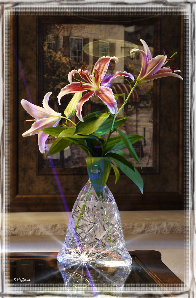 Lilies and Crystal by Kenneth Hoffman