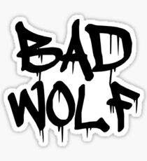 Bad Wolf #1 - Black Sticker