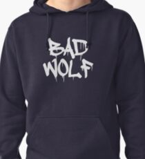 Bad Wolf #1 - White Pullover Hoodie