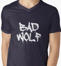 Bad Wolf #1 - White Men's V-Neck T-Shirt