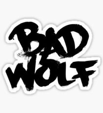 Bad Wolf #2 - Black Sticker