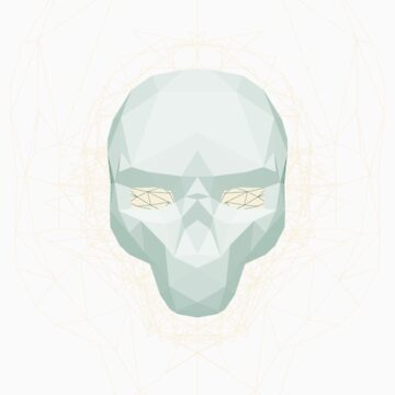 Skull - 2D Low Poly Artwork by AmpersandCo