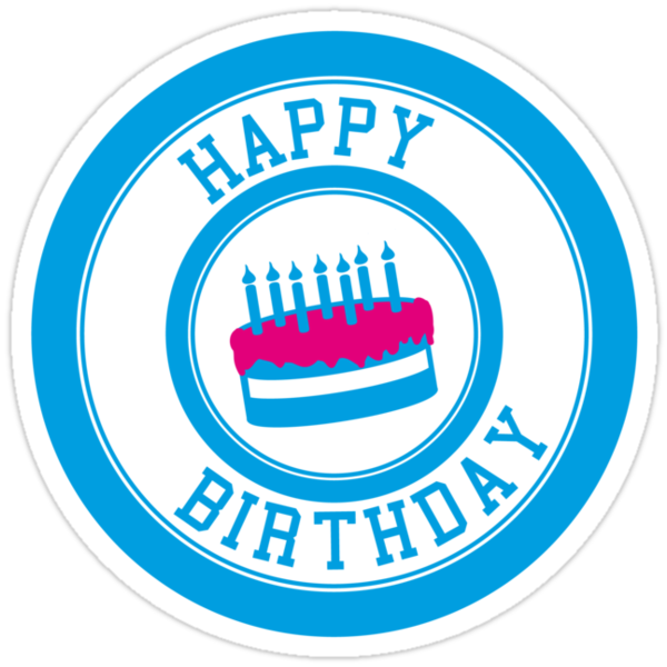 """""""Happy Birthday"""" Stickers by GenerationShirt   Redbubble"""