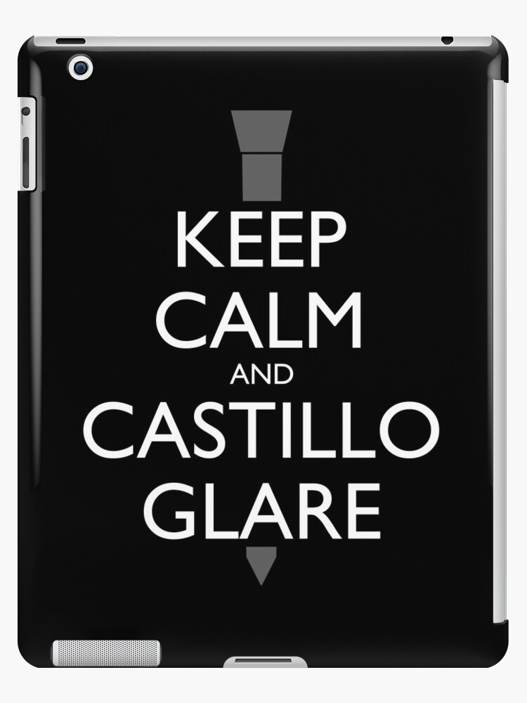 Keep Calm and Castillo Stare (B/W) by olmosperfect