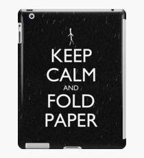 Keep Calm and Fold Paper - Stickman/Rain iPad Case/Skin