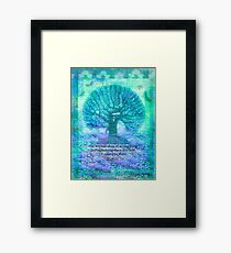 Rumi Friendship Peace Quote with tree art Framed Print