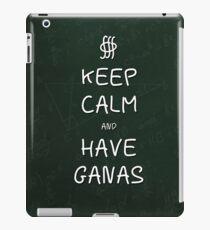 Keep Calm and Have Ganas - Green Chalkboard iPad Case/Skin