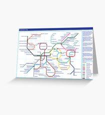 Metabolism - Tube Map Greeting Card