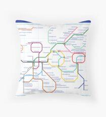 Metabolism - Tube Map Throw Pillow