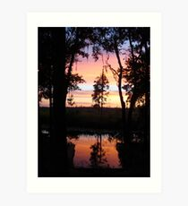 JULY SUNSET ON ECONFINA CREEK Art Print