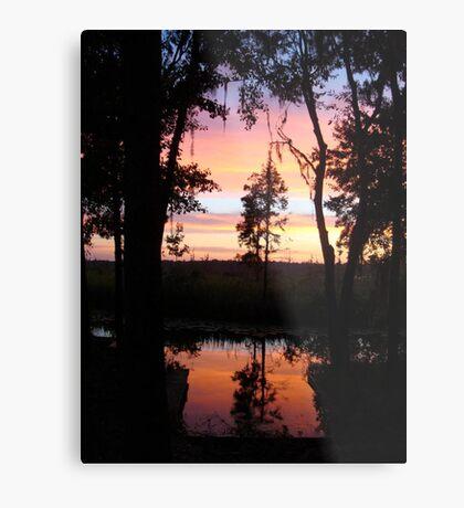 JULY SUNSET ON ECONFINA CREEK Metal Print
