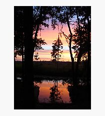 JULY SUNSET ON ECONFINA CREEK Photographic Print
